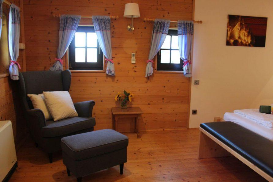 Schlafzimmer Blockhaus