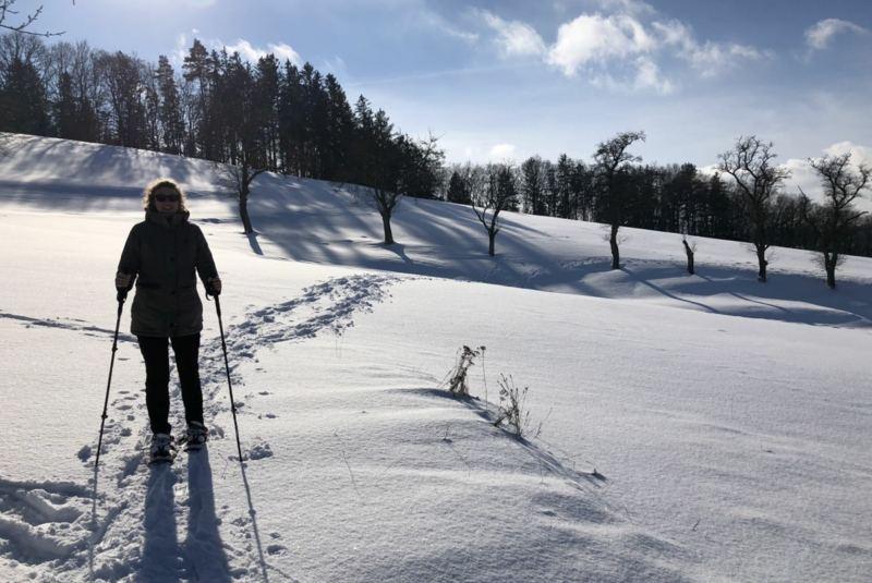 Schneeschuhwandern im Mühlviertel